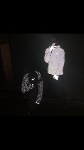 jacket,nike,black,windbreaker,nike jacket,reflective,reflective jacket,nike reflective white jacket,black jacket,nike black,black nike,black nike jacket,black and white jacket,black and white relfective jacket,black and white tile reflective jacket,tile jacket,tile nike jacket,nike tile reflective jacket