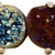Christopher Kane Gold and Multicolor Double Stone Ring