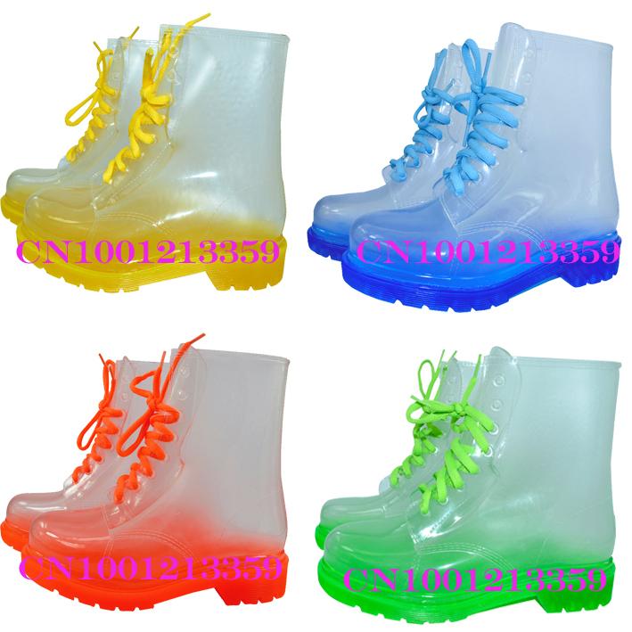 envío gratis 2013 transparente de pvc mujer colorida de cristal claro de pisos y tacones altos zapatos de en de en Aliexpress.com