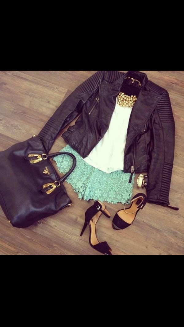 shorts jewels jacket bag