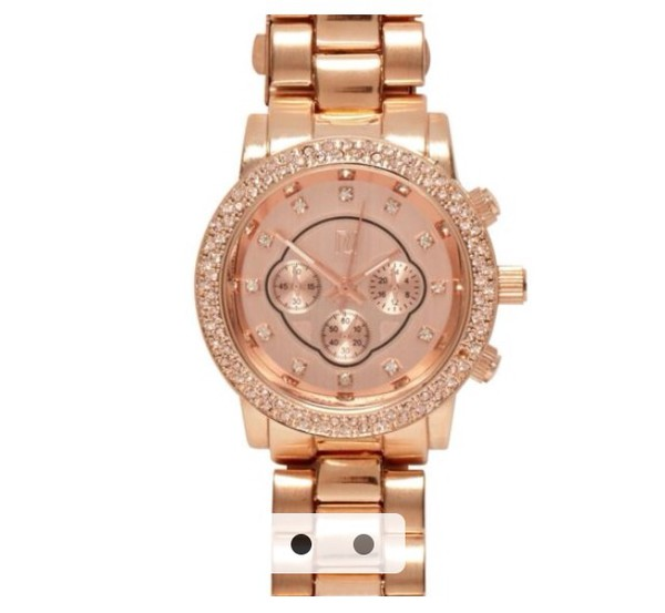 jewels watch rose gold