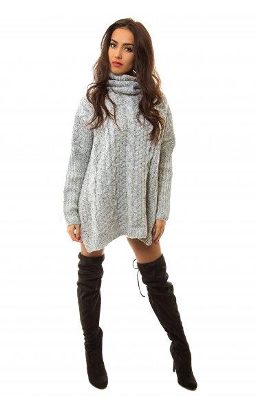 Reiva chunky grey oversized jumper