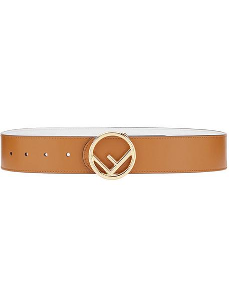 Fendi women belt leather brown