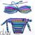 glazzy | Rakuten Global Market: Blue ethnic pattern bandeau bikini Tropical Botanical tropical import import swimsuit overseas Celebrity Blogger favorite bikini