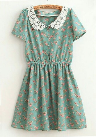 dress retro floral dress