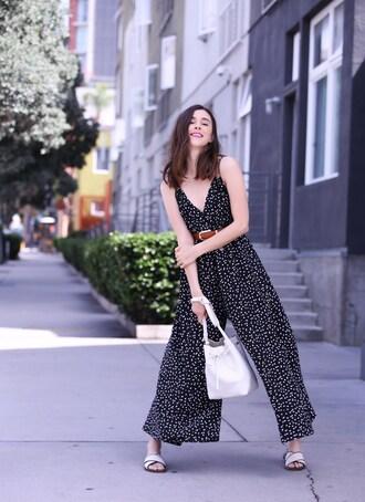 inspades blogger jumpsuit bag belt jewels shoes