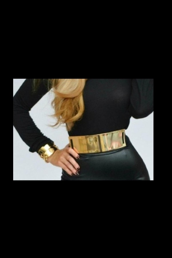 jewels clothes clothes gold belt jewelry black leather skirt leather bracelets