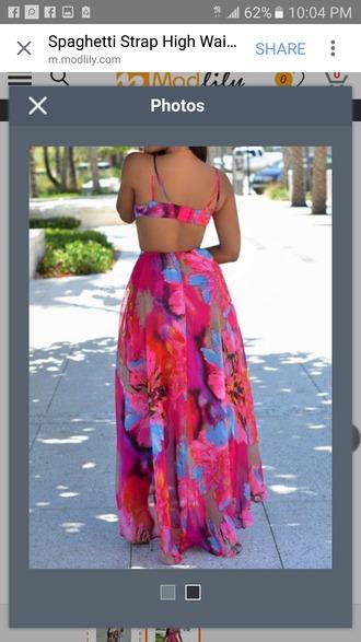 dress cute vibrant colorful long flowing summer maxi dress floral maxi dress