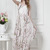 White Sleeveless Floral Chiffon Full Length Dress - Sheinside.com