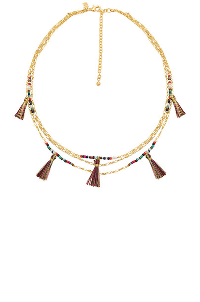Rebecca Minkoff tassel necklace metallic gold jewels