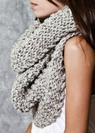 scarf grey scarf fluffy infinity infinity scarf grey knitwear oversized scarf grey chunky scarf neutral infinity scarf