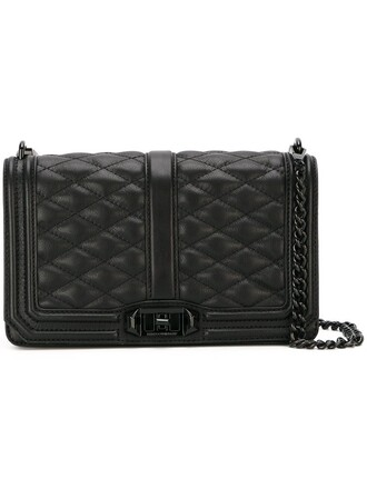 love quilted bag crossbody bag black