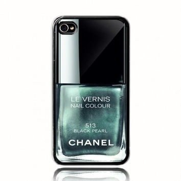 Black Pearl Chanel Nail Polish Case on Wanelo