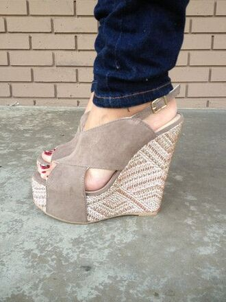 shoes wedges nude wedges beige wedges cute shoes