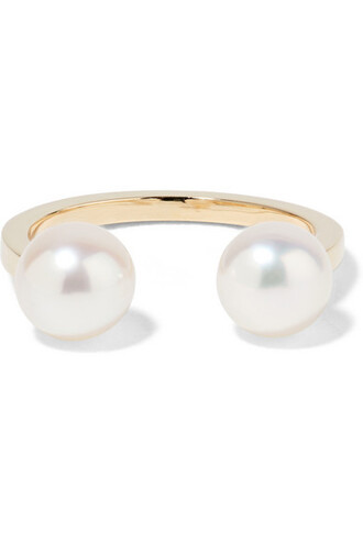 cuff pearl ear cuff gold jewels
