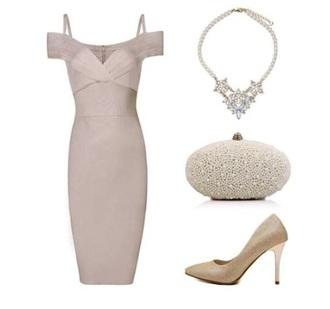 dress bandage dress grey dress midi dress