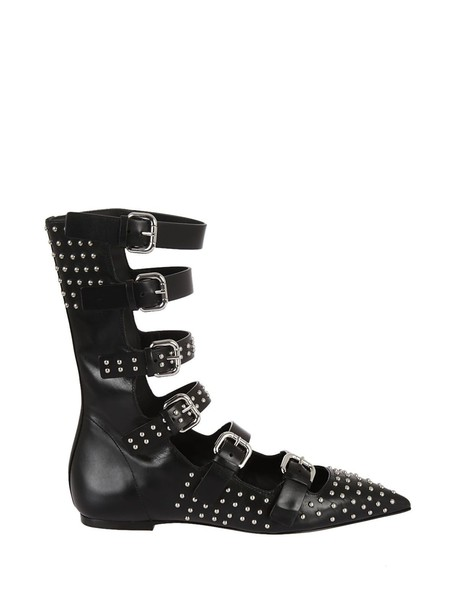 RED VALENTINO buckle boots black shoes
