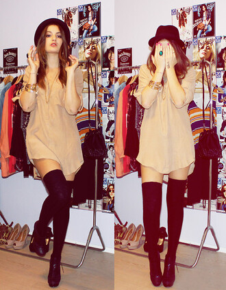 dress t-shirt nude hat blouse shirt top lace flowy loose tshirt simple dress clothes socks shoes fall outfits fall colors fall dress boots cute cute dress