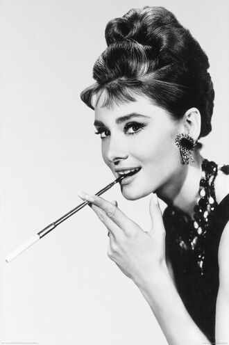jewels audrey hepburn actress pretty beautiful hairstyles statement earrings earrings statement necklace necklace