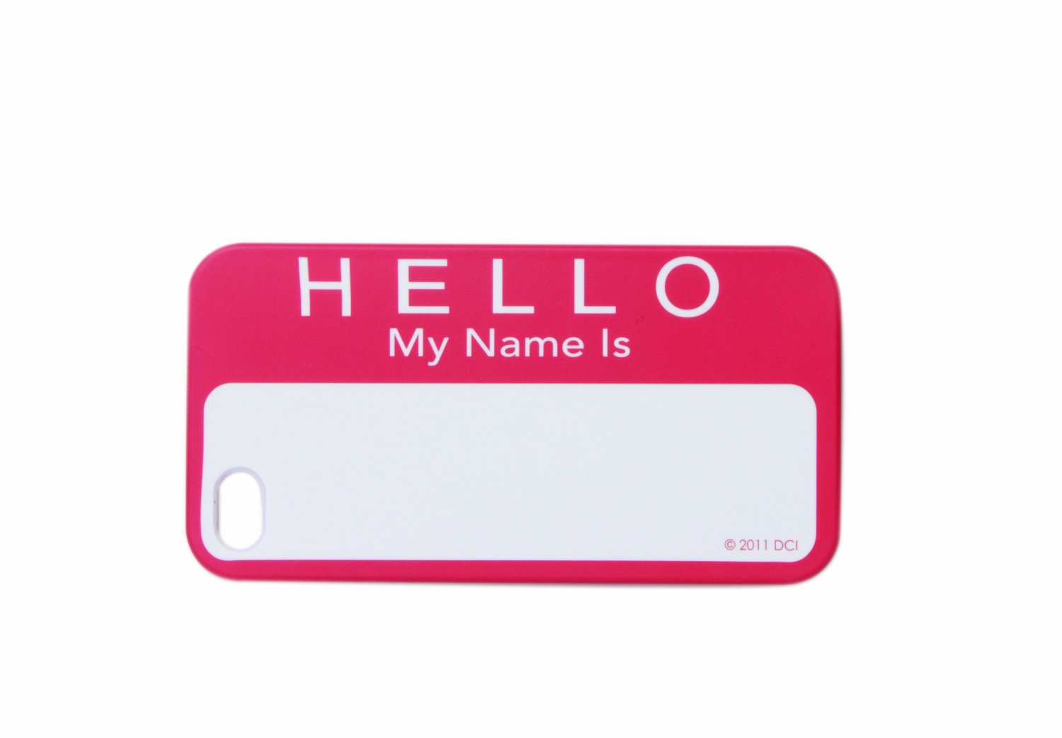 Amazon.com: DCI 30468 Hello My Name Is Flash Hard Shell Cover for iPhone 4/4S - Retail Packaging - Red/White: Cell Phones & Accessories