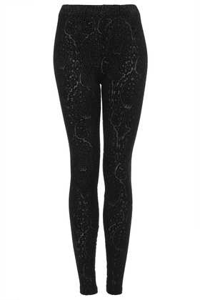 Paisley Burnout Devore Legging - Leggings  - Clothing  - Topshop