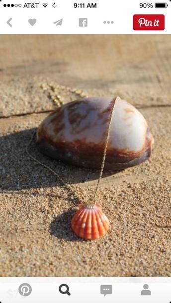 jewels sunrise shell necklace