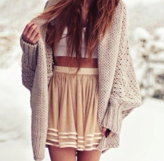 sweater oversized sweater winter outfits cardigan skirt