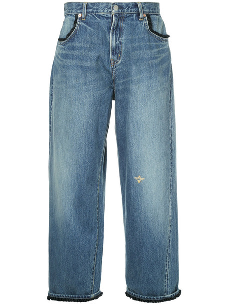 UNDERCOVER jeans cropped women cotton blue