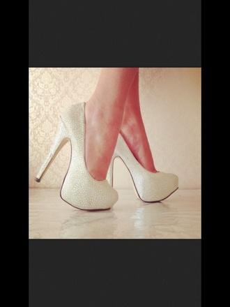 shoes sparkle diamonds white heels high heels