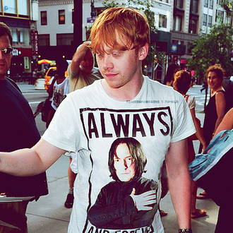 t-shirt snape harry potter rupert grint rupert grint harry potter always and forever said snape clothes ron weasley ron severus top