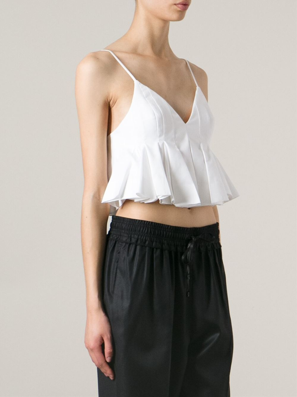 Alexander Wang Pleated Crop Top - Spazio Pritelli - Farfetch.com