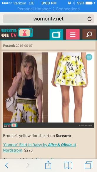bag mtv backpack white backpack mini skirt yellow