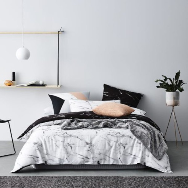 home accessory bedroom bedding marble