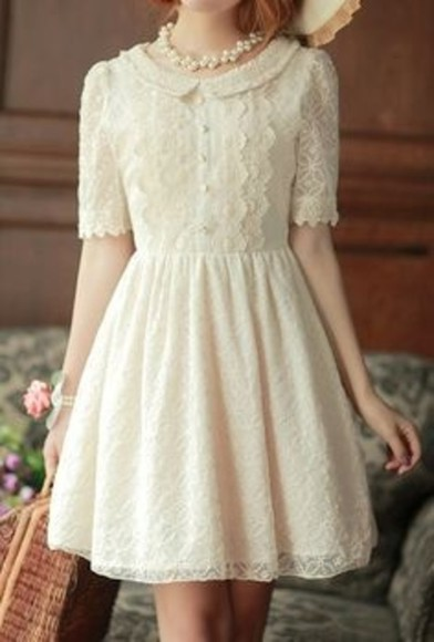 dress beige pearl