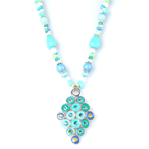 [grxjy5100341]fashion blue love pendant necklace