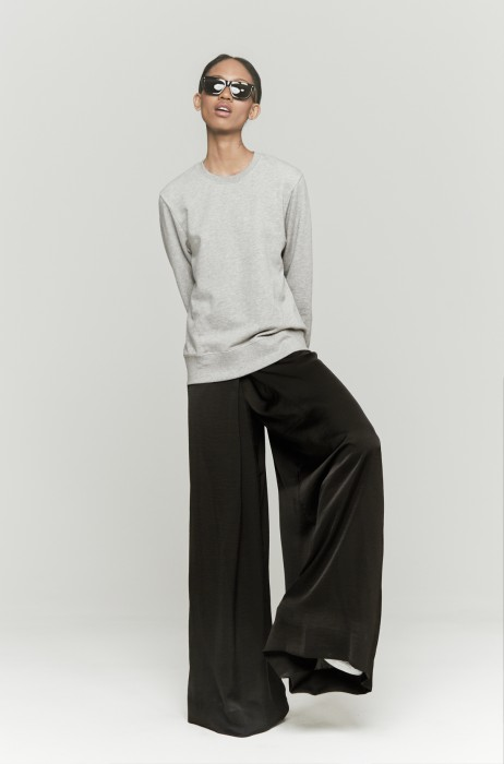 L'Agence Palazzo Pant Black | The Dreslyn