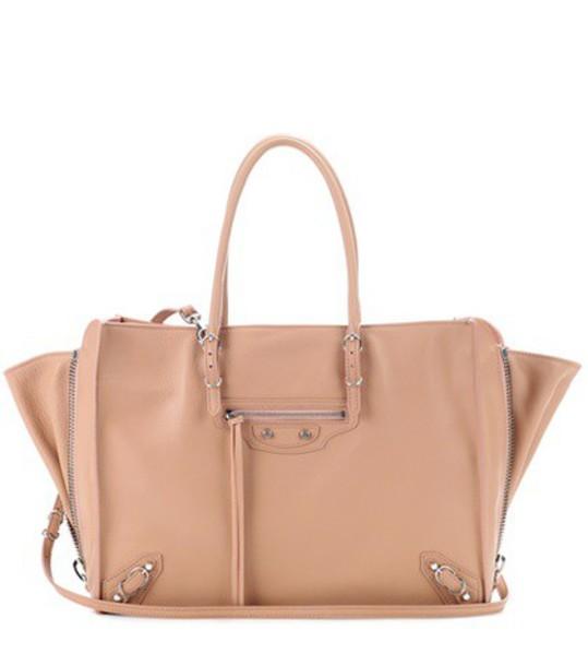 zip bag shoulder bag leather