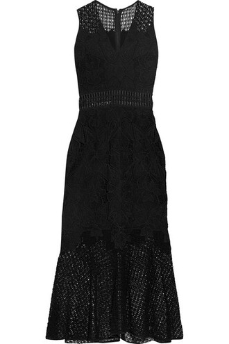 dress midi dress midi lace black knit crochet