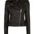 Signature black leather biker jacket | Luxury Women's outerwear | Karen Millen