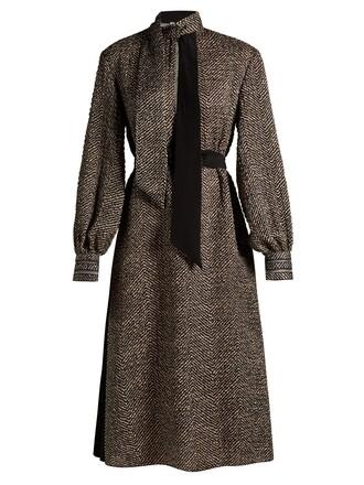 dress midi dress high midi chevron white black