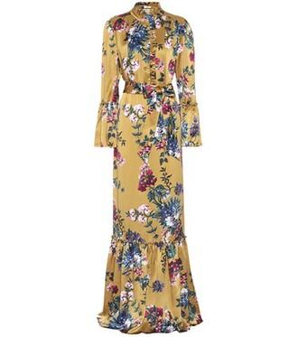 dress silk dress silk gold