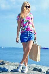 ag on i ya,blogger,top,jeans,bag,shorts,shoes
