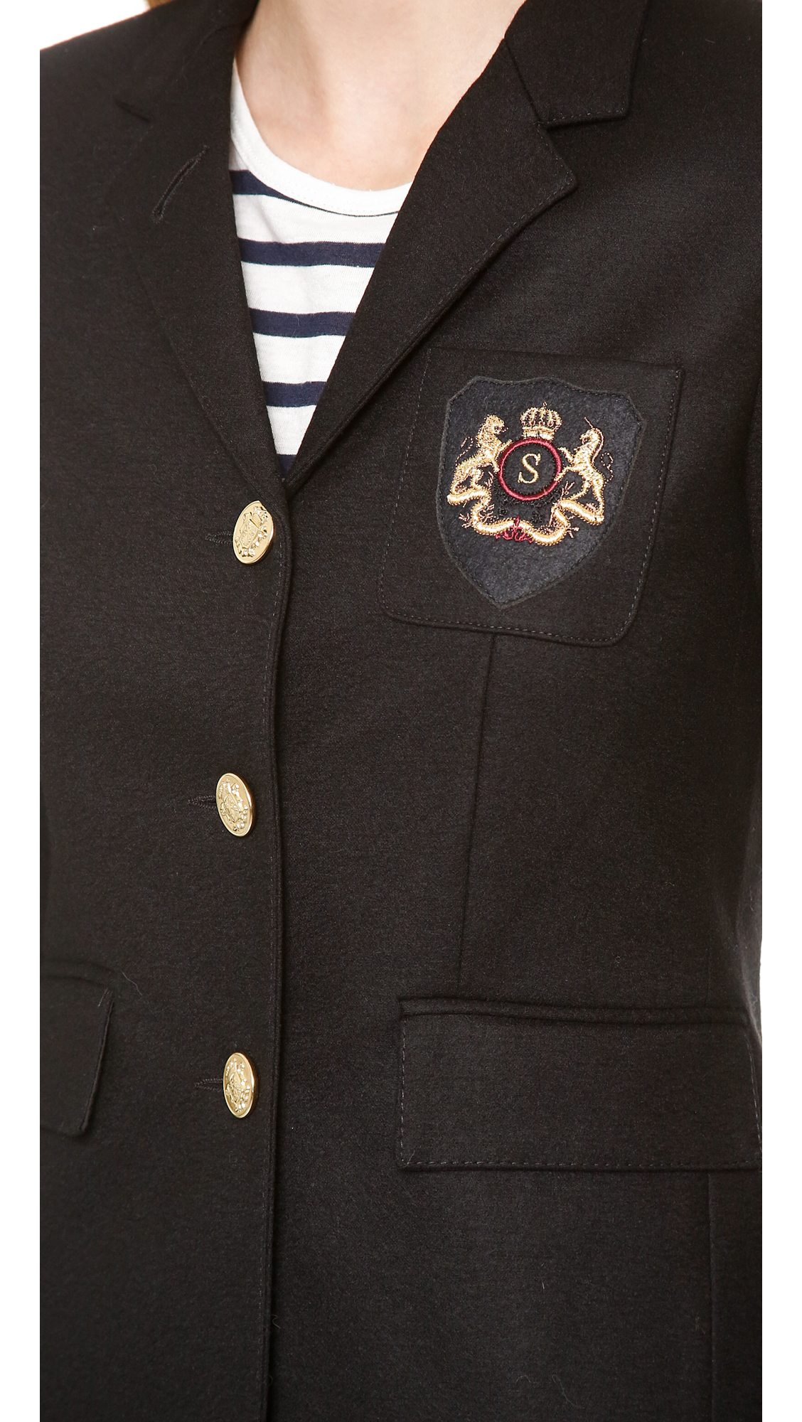 Smythe three button schoolboy blazer