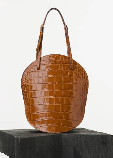 Micro luggage handbag in goatskin