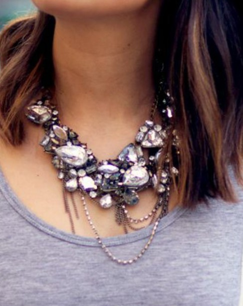 jewels accessories collier argent diamonds perles