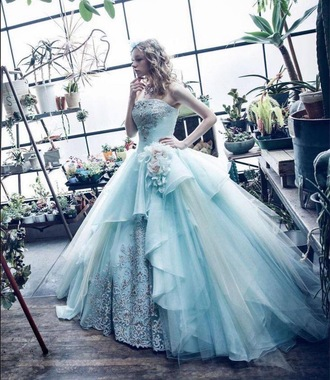 dress prom dress alice in wonderland gown formal school dance prom prom gown senior prom blue blue dress light blue formal dresses embroidered