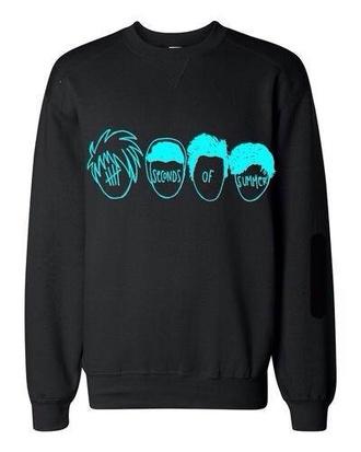 sweater black 5 seconds of summer 5sos hoodie ashton irwin michael clifford luke hemmings calum hood hoodie