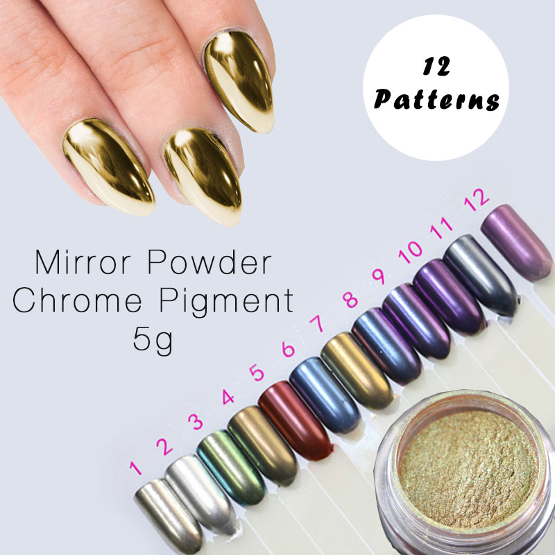 Aliexpress.com : Buy 5g New Arrived Silver Gold Chrome Mirror Powder ...