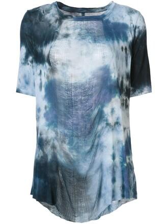 t-shirt shirt print blue top