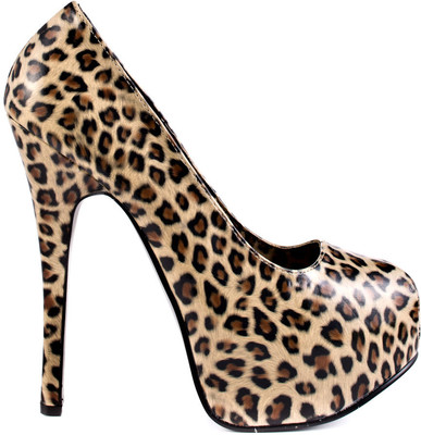 Viva Bordello Women's Mile High City - Cheetah Print Pu